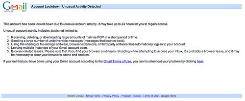 Gmail Lockdown