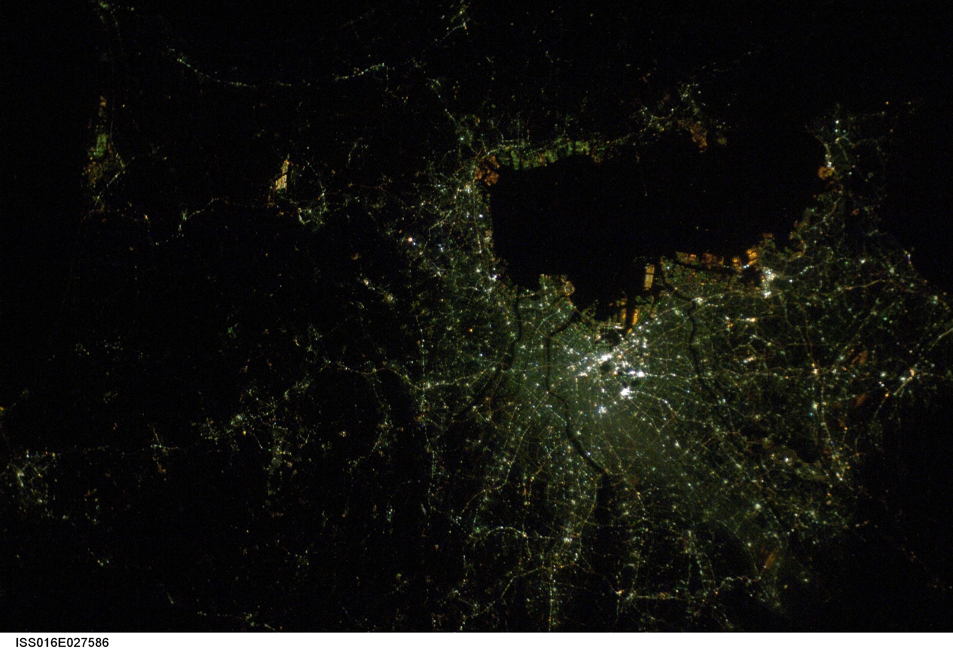 Japan at Night From Space