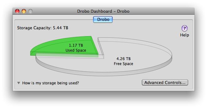 Drobo Dashboard Screenshot