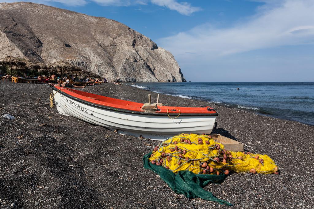 Fishing Boat Santorini Greece