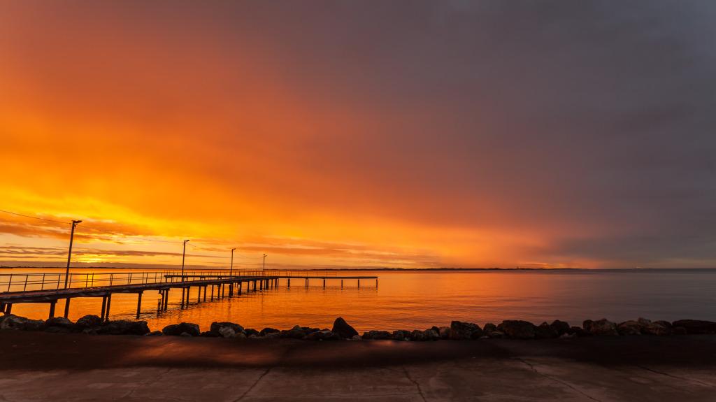 Fishing Pier At Sunset 2