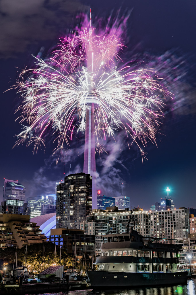 The Toronto 2015 Pan Am Games CN Tower Fireworks 05