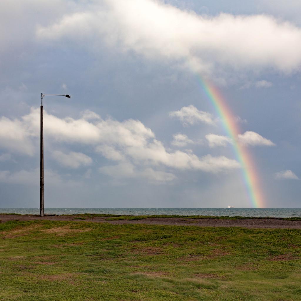 Streetlight And Rainbow