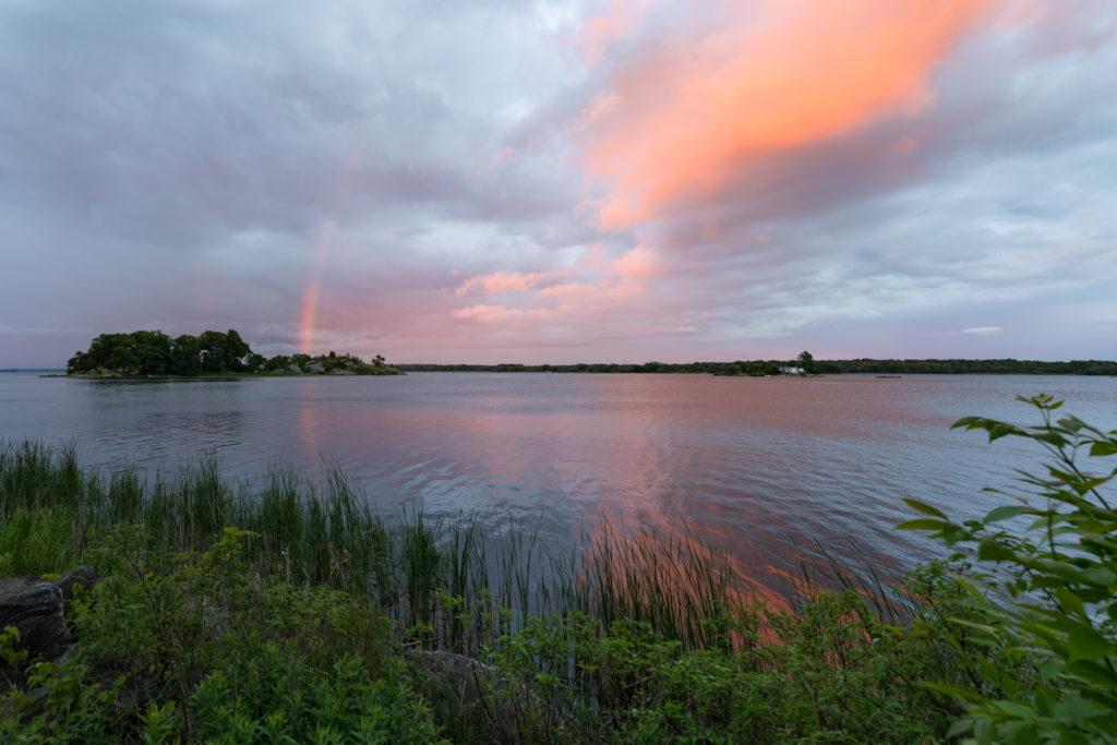 Rainbow And Pastel Sky