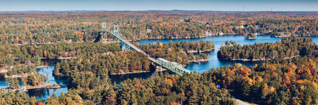 1000 Islands Bridge And The River