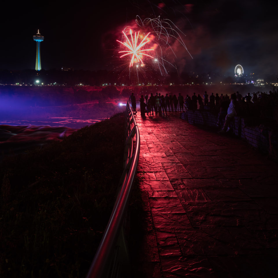 Fireworks At The Falls