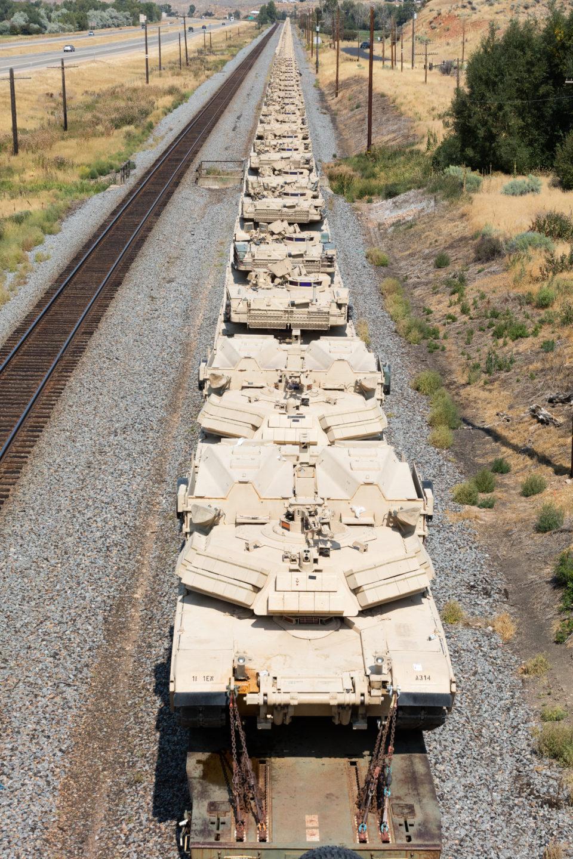 Tanks On A Train