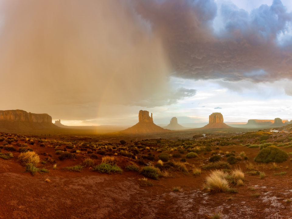 Monument Valley Sunset In The Rain