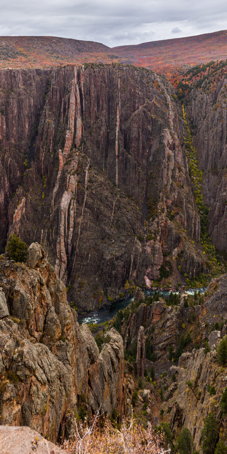 Truck For Scale At Black Canyon Of The Gunnison