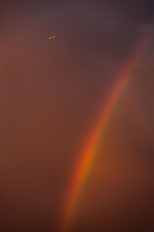 Rainbow And Airplane