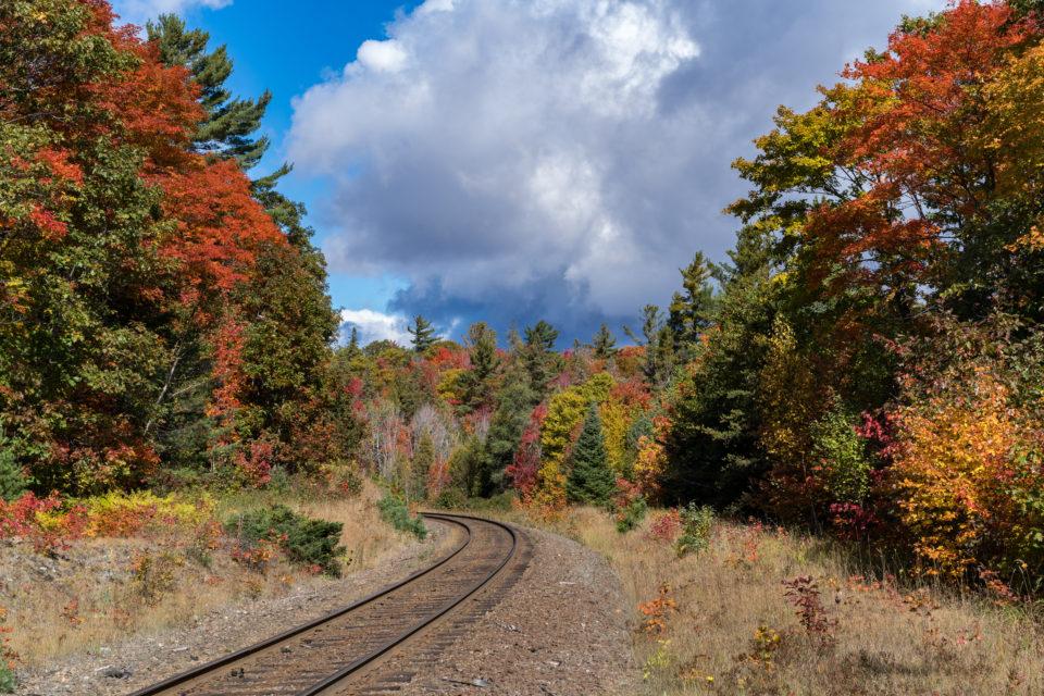 Railway Curve And Fall Colour