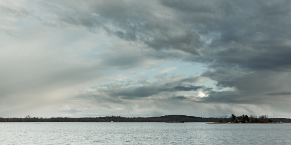 Cloudy Skies Over Grassy Point