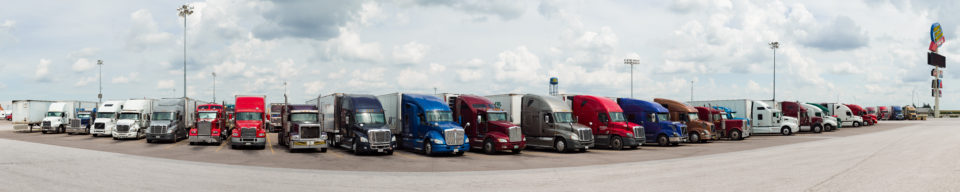 Trucks At The World's Largest Truck Stop