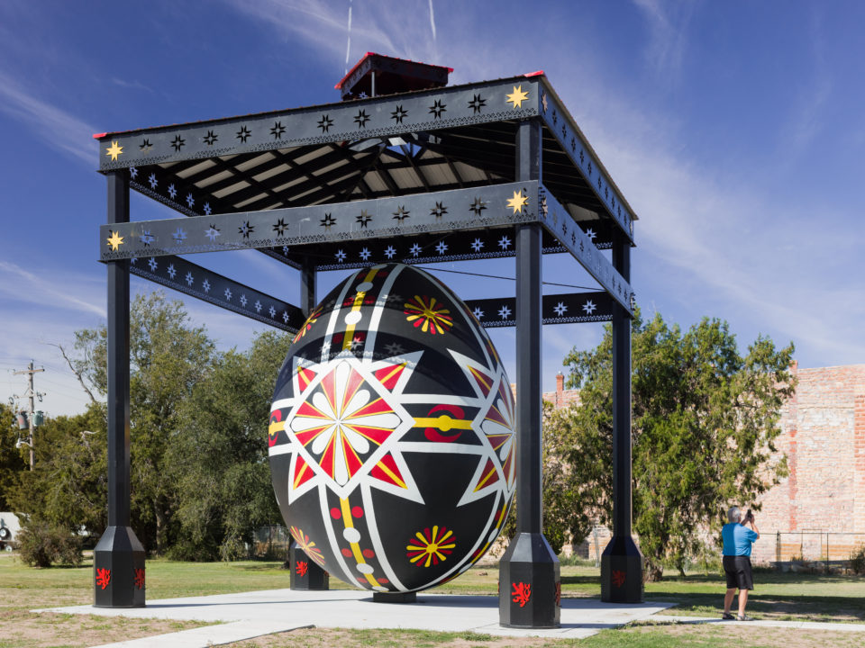 World's Largest Hand-Painted Czech Egg