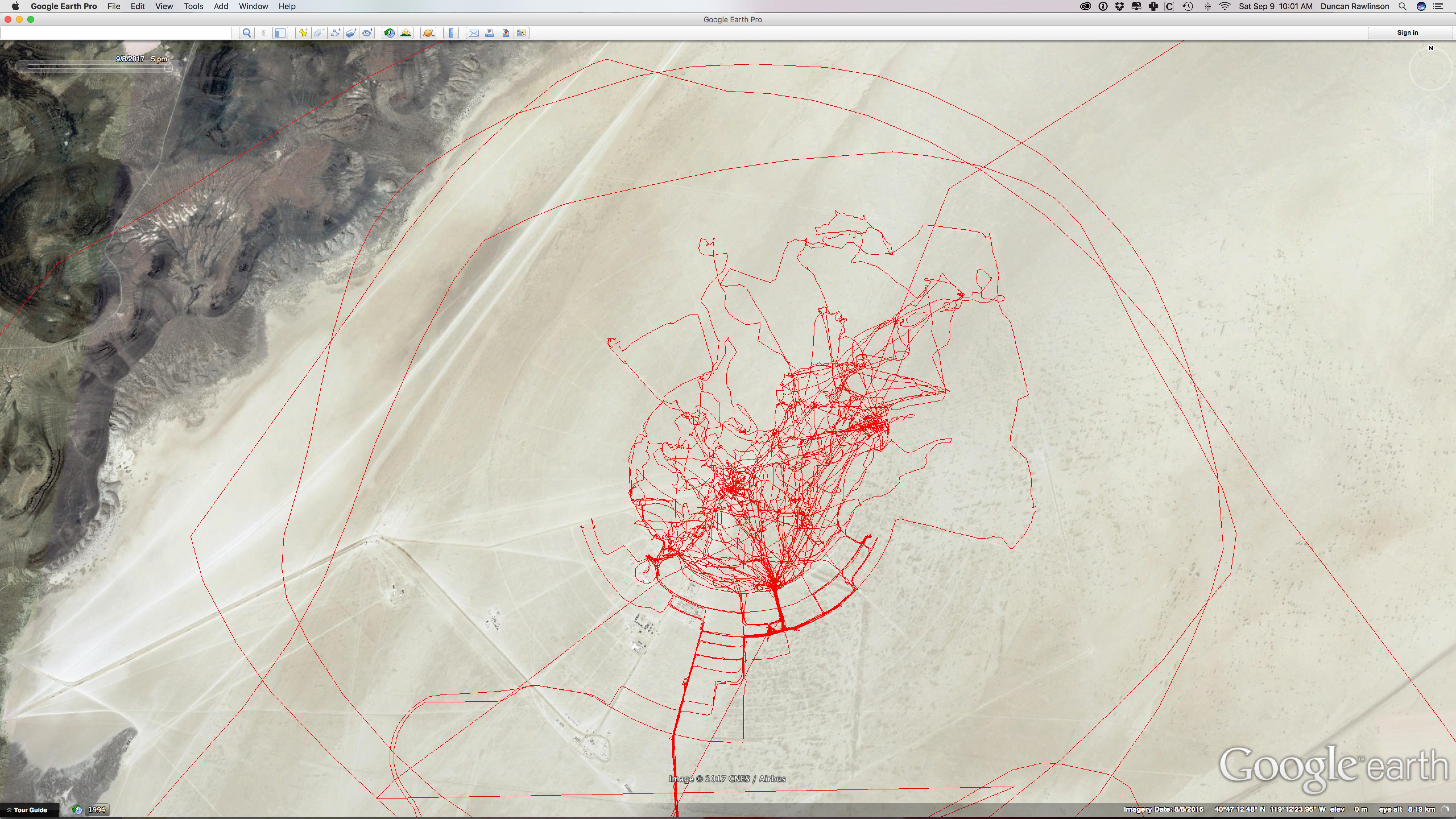 GPS Location History : BurningMan