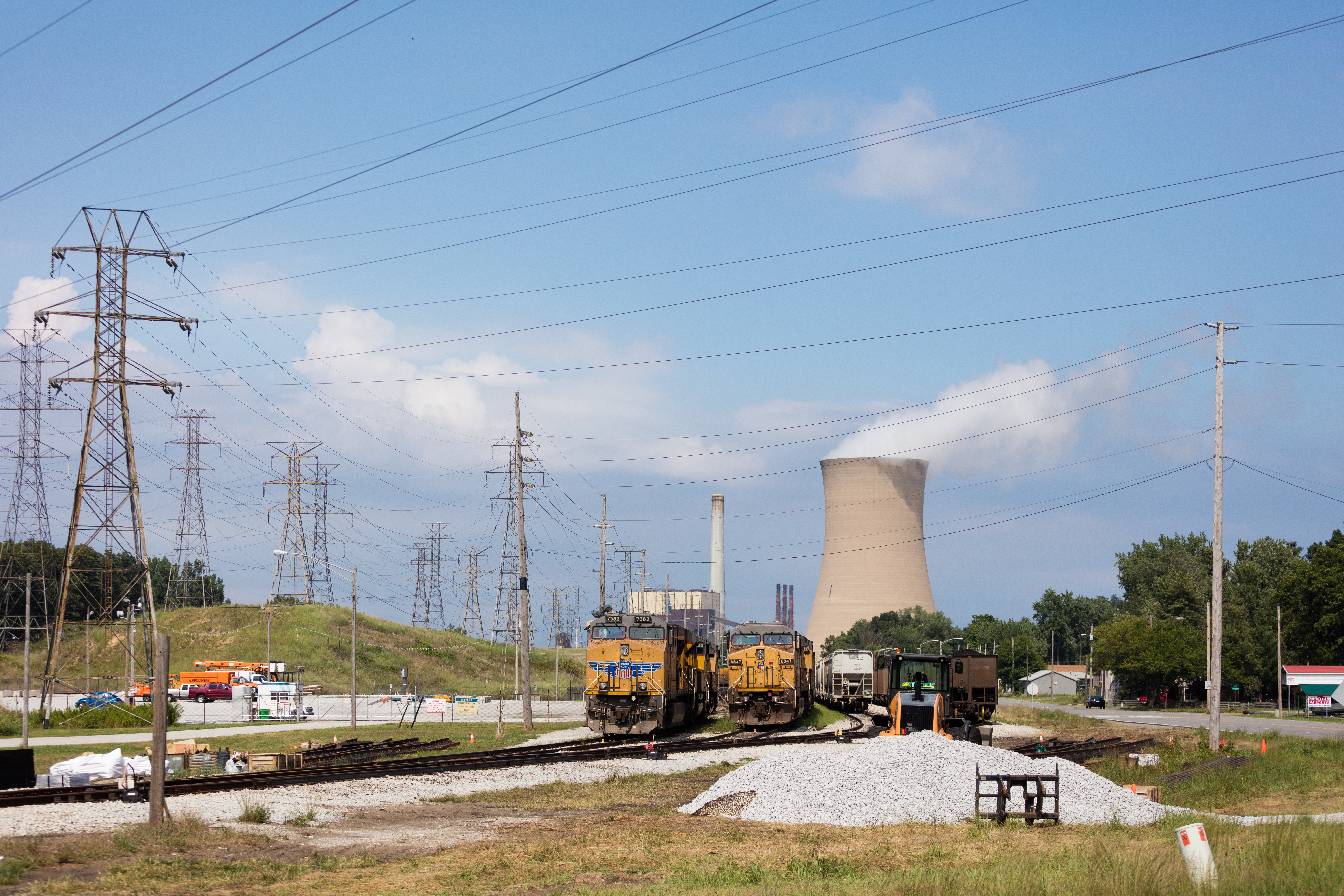 Coal Power Plant And Trains – Duncan