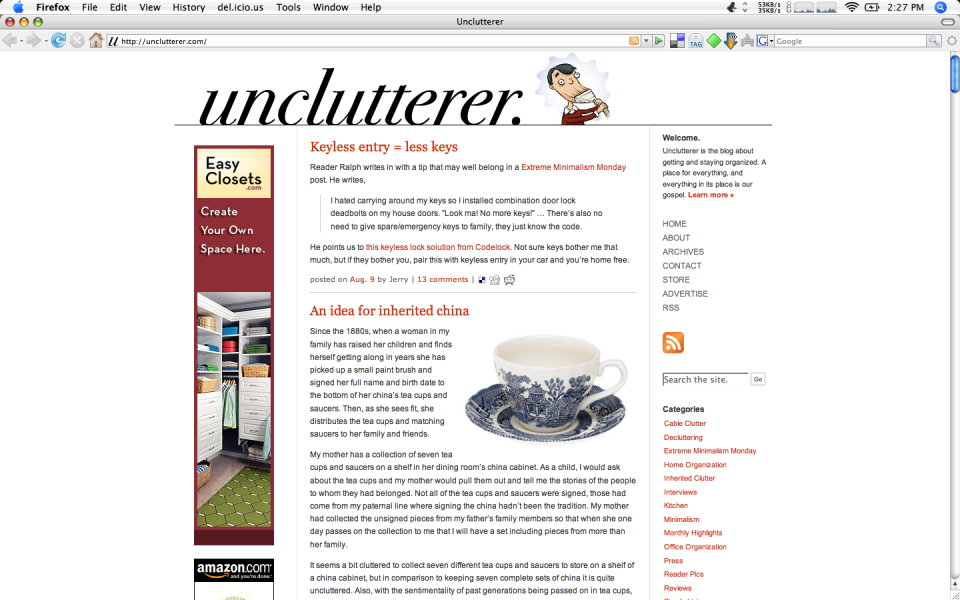 unclutter your browser