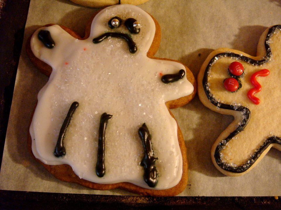sad gingerbread cookie