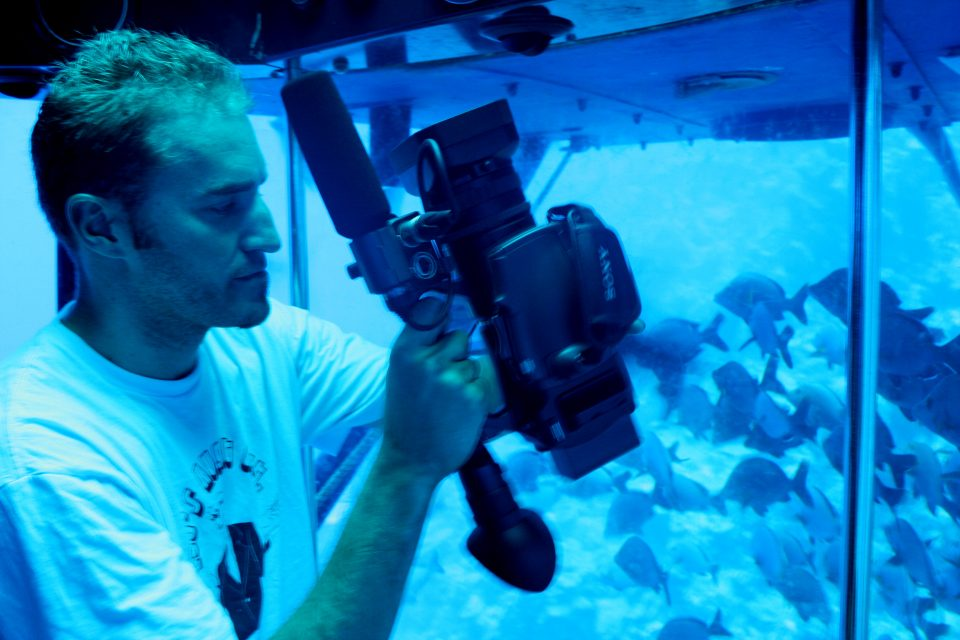 shooting video in a submarine
