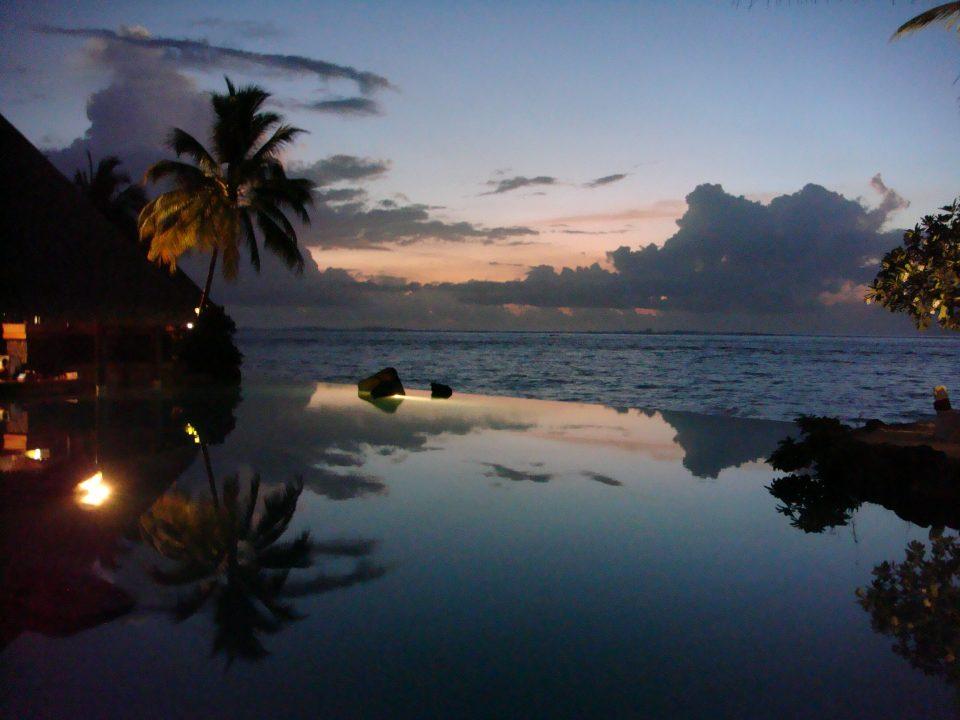 infinity pool dusk