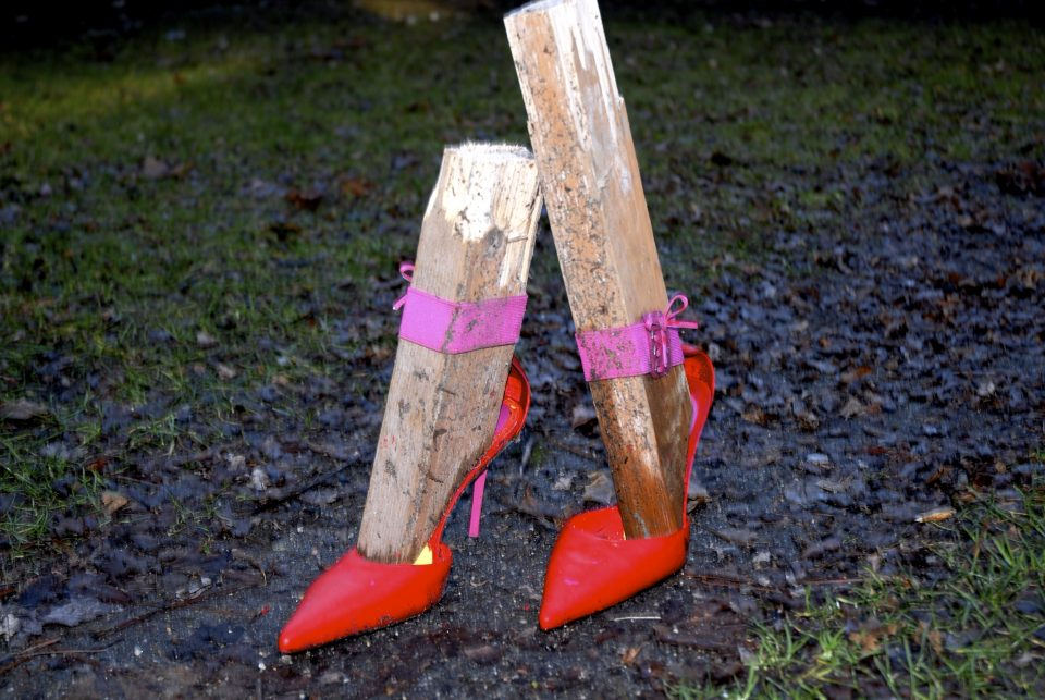 High Heel Shoes With Wood