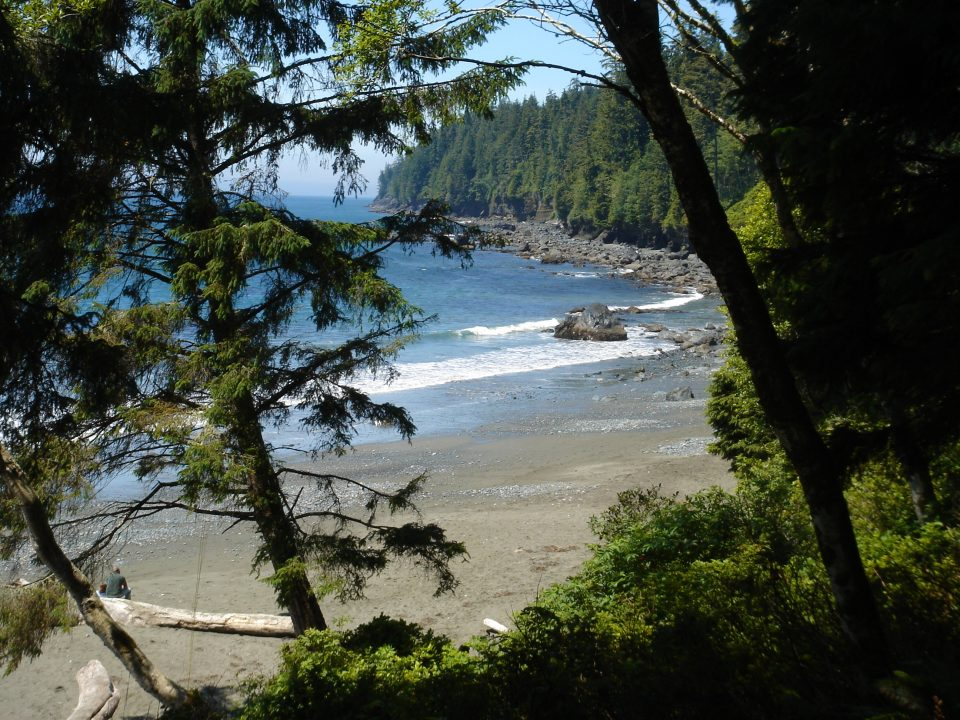 Mystic Beach from the trail
