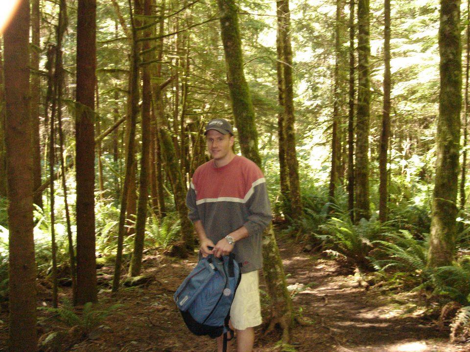 on the trail to mysitc beach