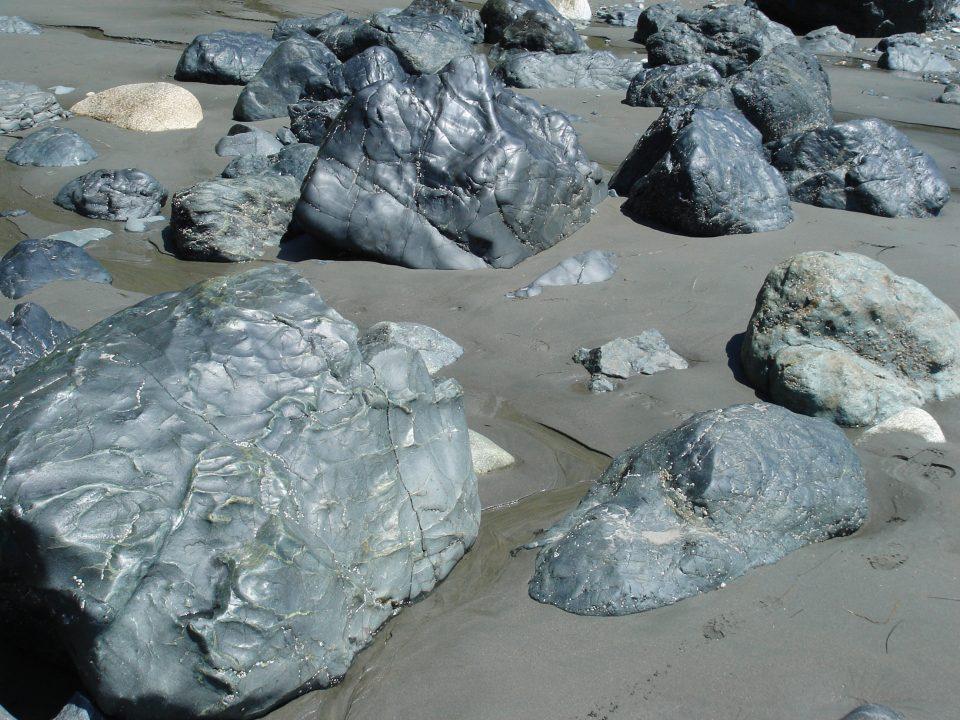 rocks at mystic beach