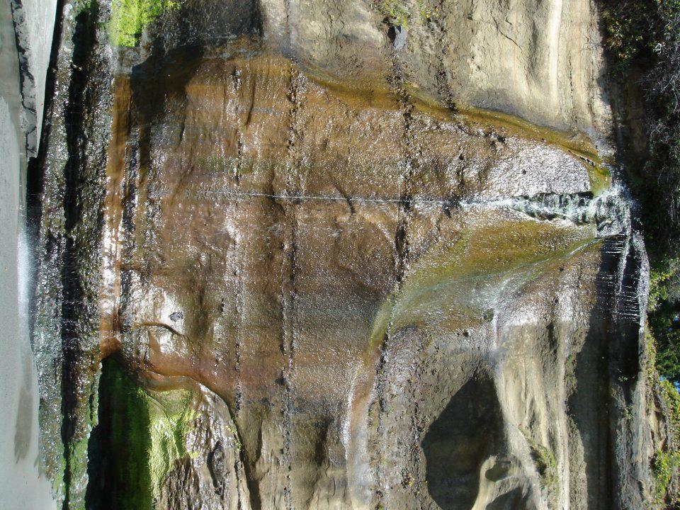 Waterfall at mystic beach
