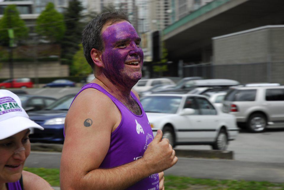 purple face guy