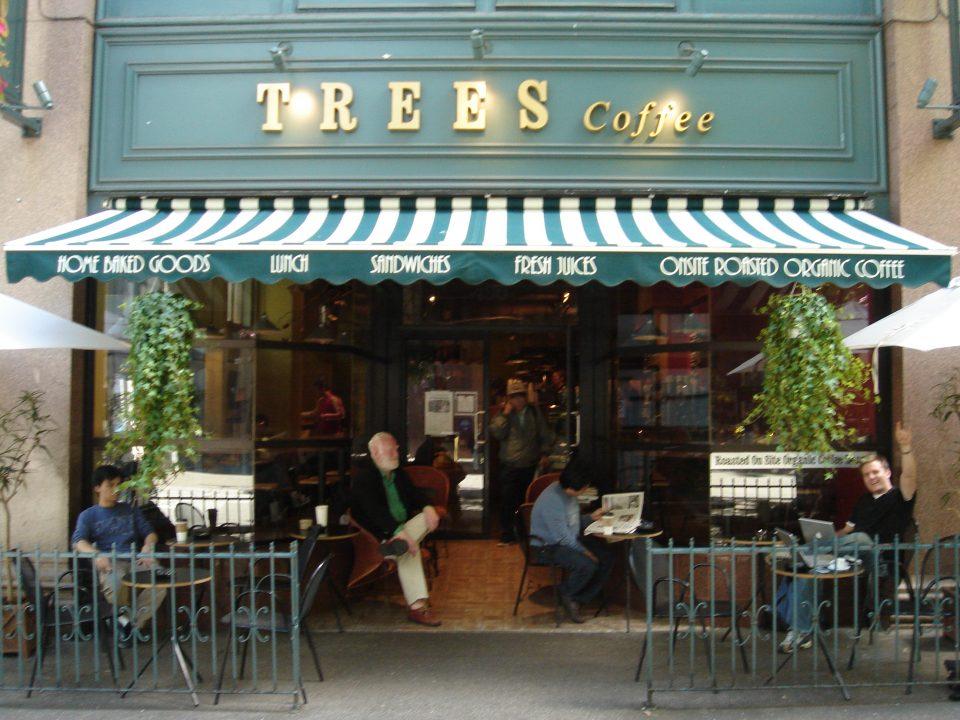 trees coffee exterior