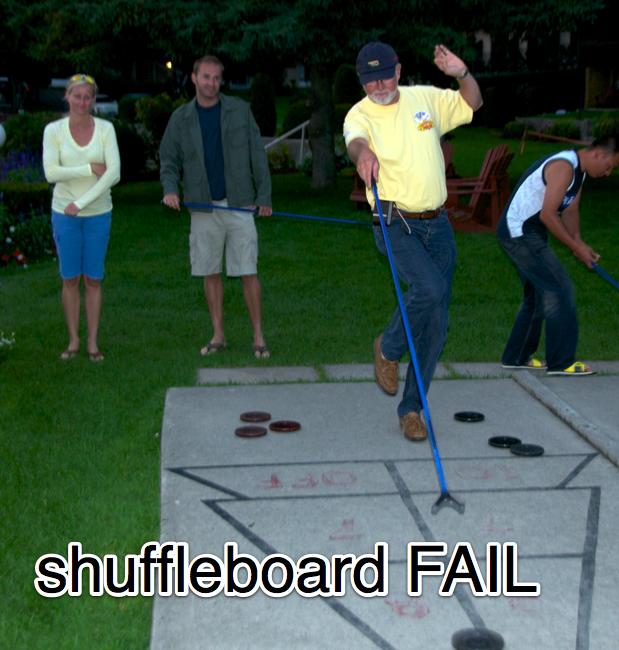 my dad shuffleboard fail