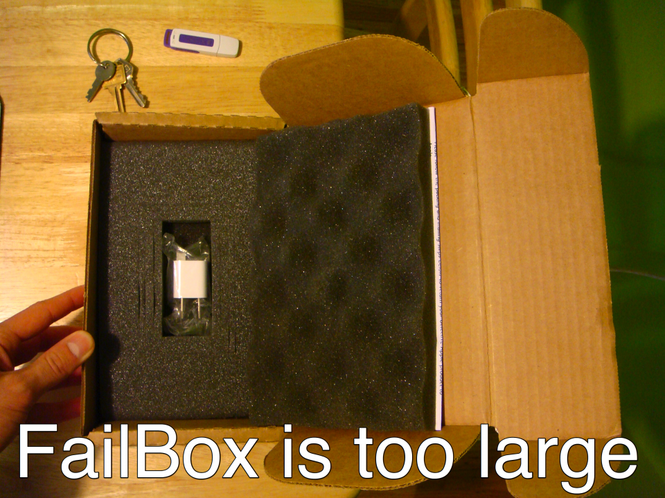 Failbox is too large
