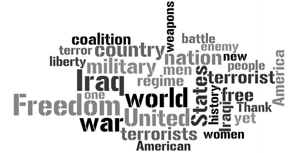Bush's Mission Accomplished | Word Cloud