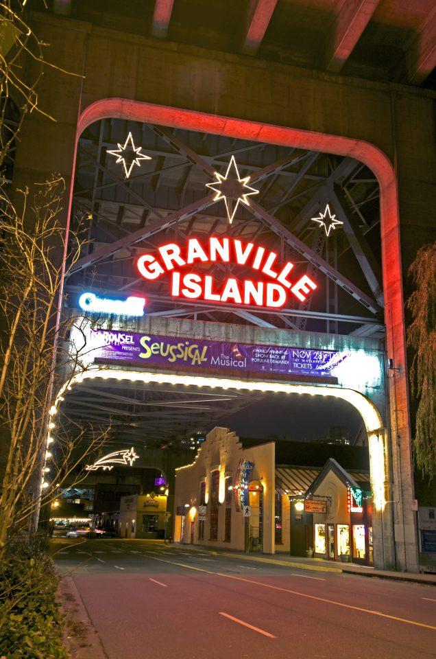 Granville Island Neon Sign