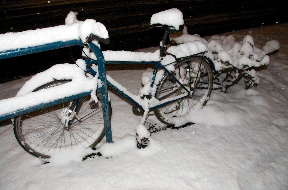 Snow Covered Bike