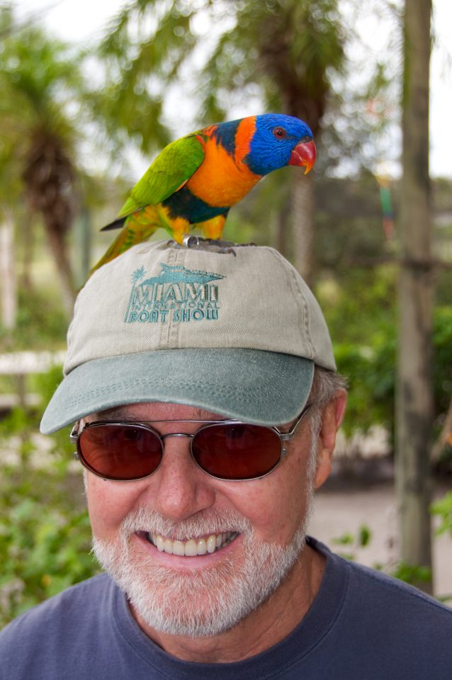Bird on Dad's Head