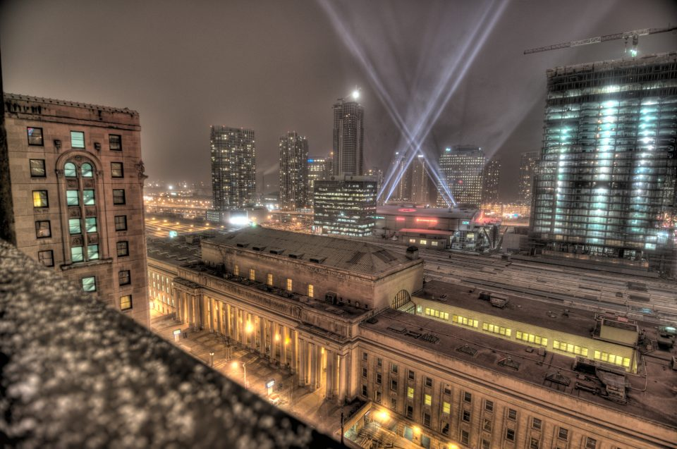 Union Station Toronto (view from the the royal york)