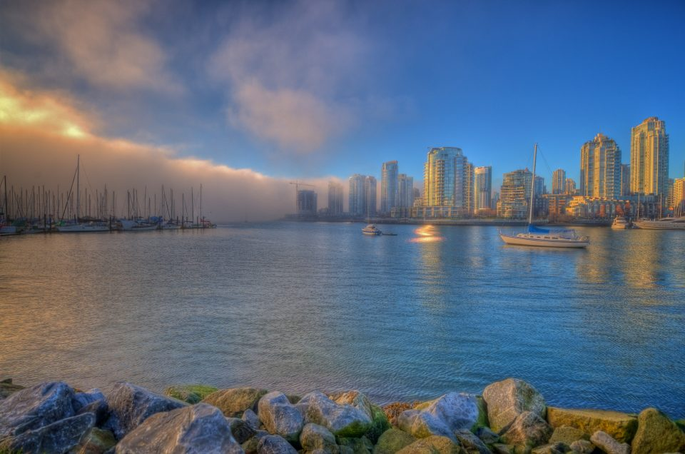 The Fog Rolls In Over Vancouver