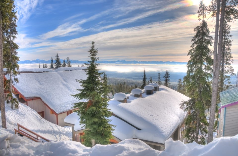 Snow Covered Chalets At Big White