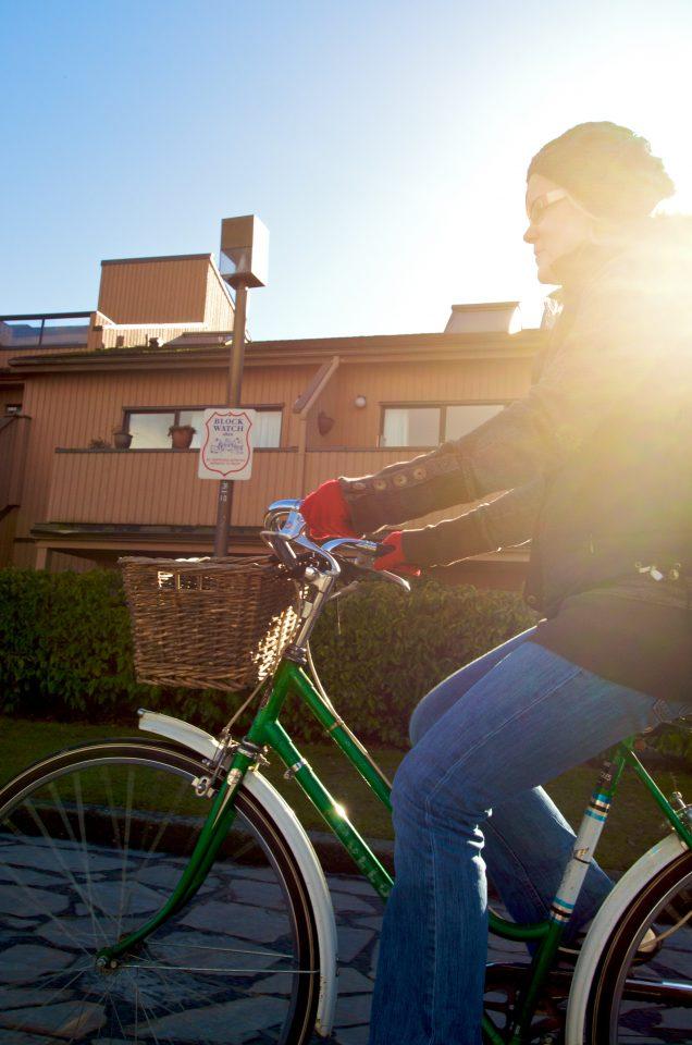 Red Gloves Green Bike Lens Flare