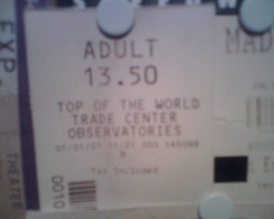 World Trade Center January 1 2001