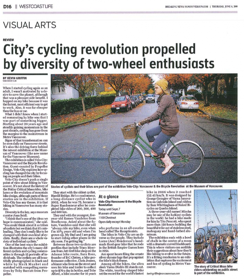 Dorothy in The Vancouver Sun | No Attribution