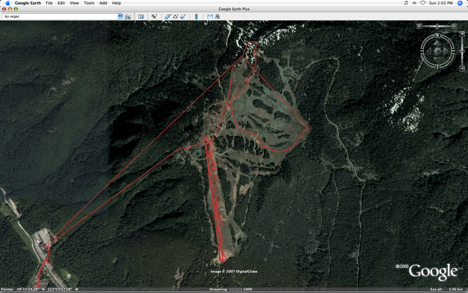 GPS Tracks from Skiing At Grouse