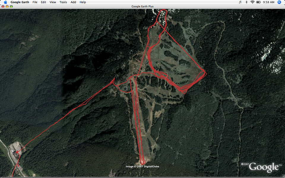 Our GPS tracks from skiing