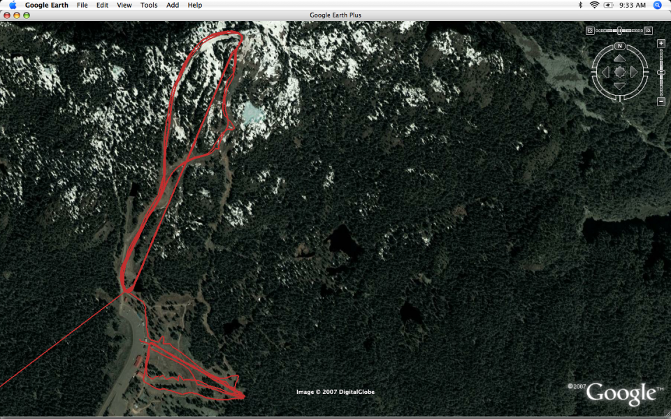gps trace of skiing