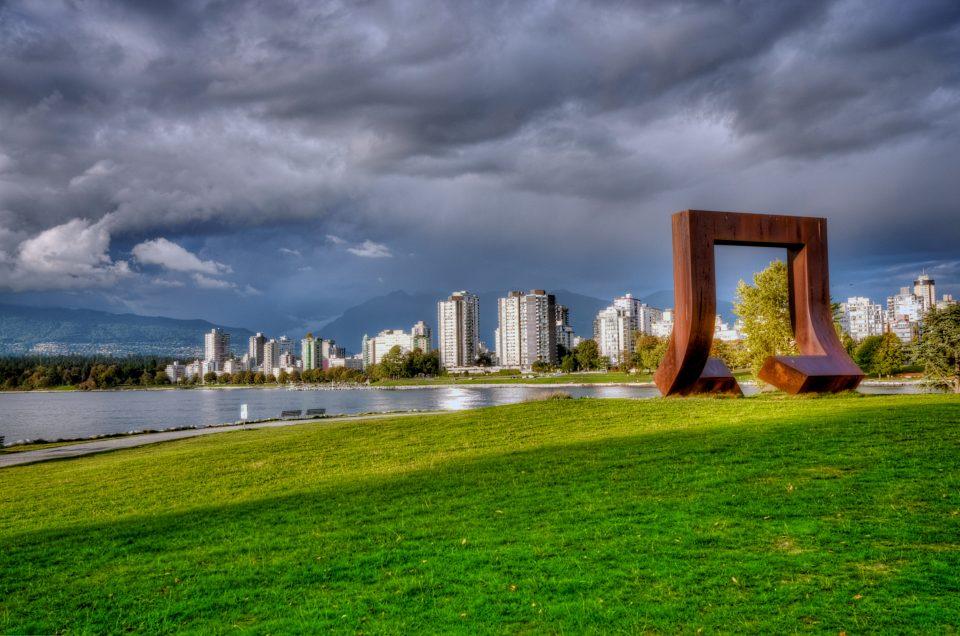 Large Rusting Sculpture Vanier Park Vancouver