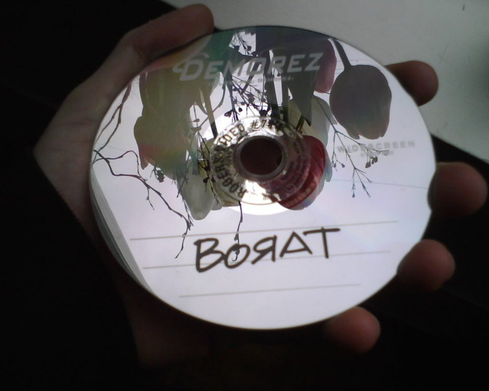 Borat DVD made to look like a burn