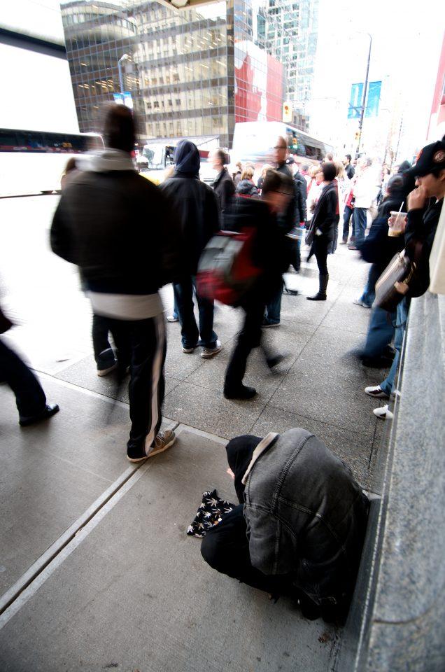 Homeless Man, Completely Ignored