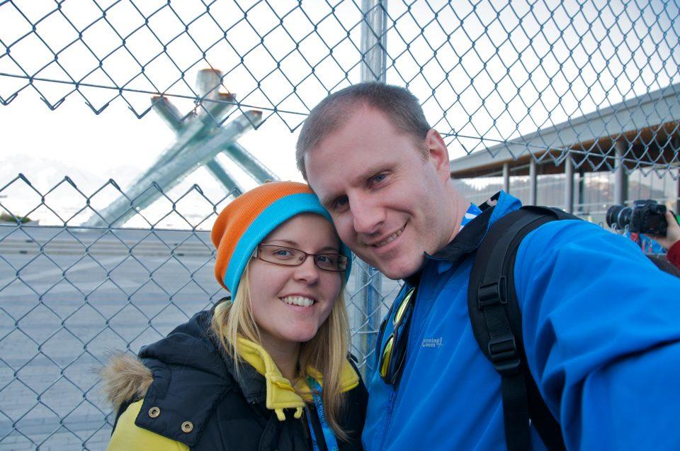 Dorothy and I at the Olympic Cauldron